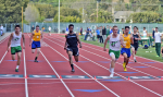 Boys 100m. Hallinan of Drake in 1sr