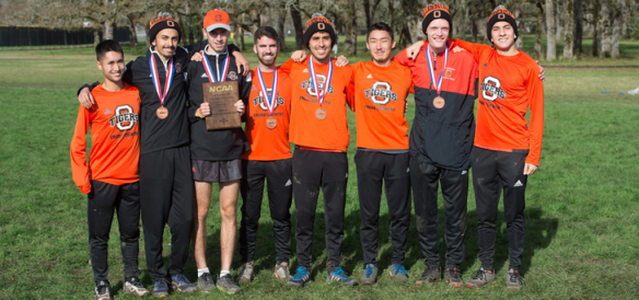Brody Barkin (4th from the left) with his Occidental teammates